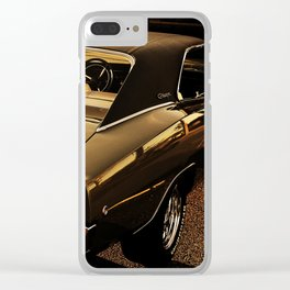 1968 Dodge Charger R/T - The Power of Gold Clear iPhone Case