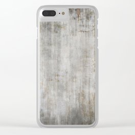 Concrete Wall Clear iPhone Case