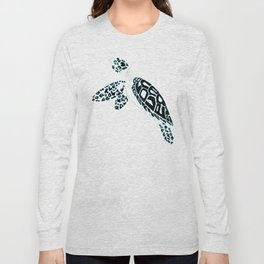 Calligram Sea Turtle Long Sleeve T-shirt