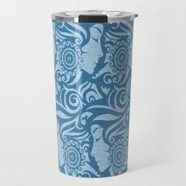 Blue Denim Diva Travel Mug