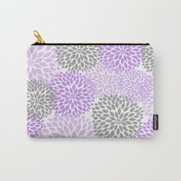 Lavender gray dahlias floral art Carry-All Pouch