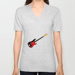 Fretless Bass Guitar Unisex V-Neck