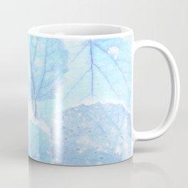 Blue autumn leaves Coffee Mug