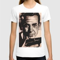 james bond T-shirts featuring Sean Connery as James Bond by Caroline Ward