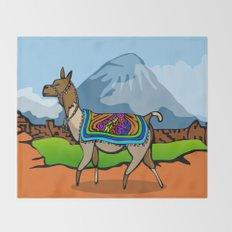 Lofty Llama Throw Blanket