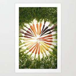 Carrot Color Wheel Art Print