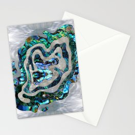 Abstract Ripple  Abalone and Mother of pearl Stationery Cards