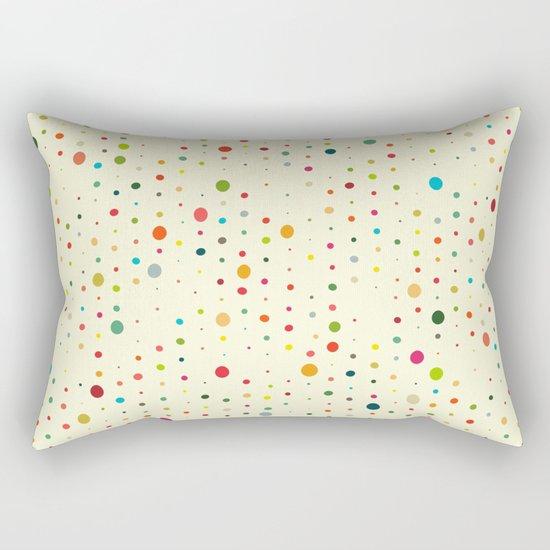 retro rain spots cream Rectangular Pillow