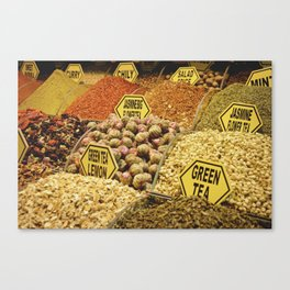 Istanbul Spice Market Canvas Print