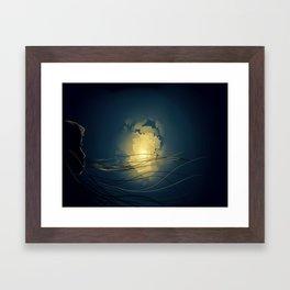 Abstract power Framed Art Print