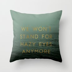 Hazy Eyes Throw Pillow