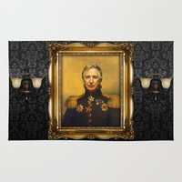 actor Area & Throw Rugs featuring Alan Rickman - replaceface by replaceface