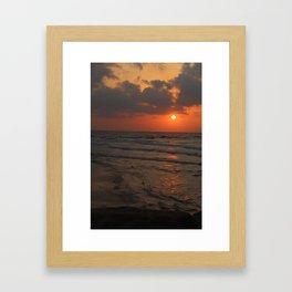 Orange Cream Sunset Framed Art Print