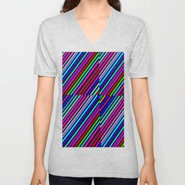 Re-Created Cross No. 19 by Robert S. Lee Unisex V-Neck