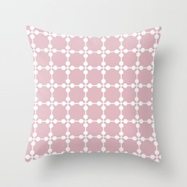Droplets Pattern - Dusky Pink & White Throw Pillow