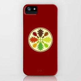 Mighty Oak Folk Art Hex Sign iPhone Case