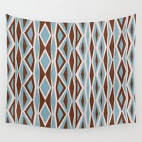 diamonds Wall Tapestries featuring Diamonds by ghennah