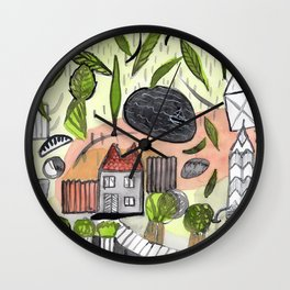 On a Stormy Day Wall Clock
