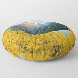 BEAR LAKE AUTUMN COLORADO ROCKY MOUNTAIN NATIONAL PARK FALL LANDSCAPE Floor Pillow