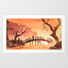 Samurai Scene, Bushido Ronin Art Print