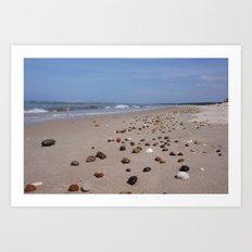 Shiney Stoney Beach - Nairn Scotland - Stones Art Print