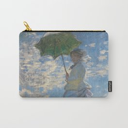 The Walk, Woman with a Parasol by Claude Monet Carry-All Pouch
