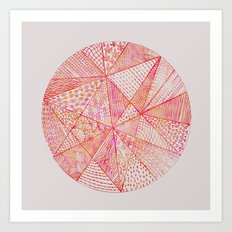 Circle Of Life - pink & orange Art Print