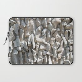 Weathered wall made of stones and cement Laptop Sleeve