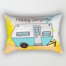 Happy Camper [color] Rectangular Pillow