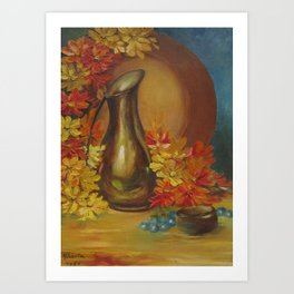 Still Life Vase and Flowers Art Print