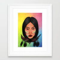 india Framed Art Prints featuring India by Melanie Arias