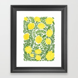 The Fresh Lemon Framed Art Print
