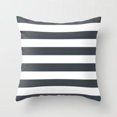 Charcoal Stripes Throw Pillow