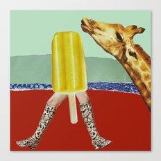 Ferdinand the Giraffe cools down Canvas Print