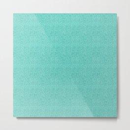 Turquoise aqua Glitter Metal Print