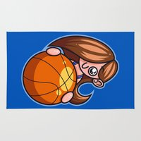 basketball Area & Throw Rugs featuring Basketball Player by Artistic Dyslexia