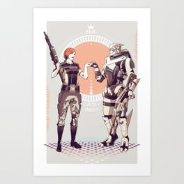 Mass Effect : King of the bottle shooters. Art Print
