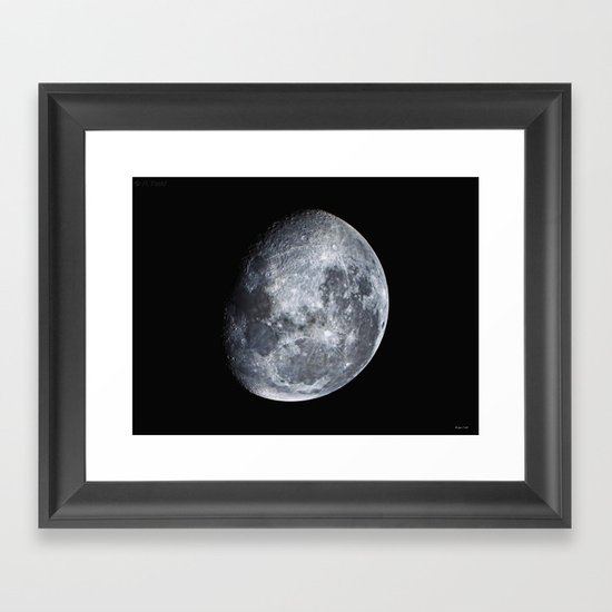 Moon scape Framed Art Print