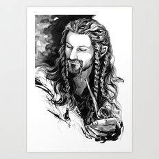smoking (2) Art Print