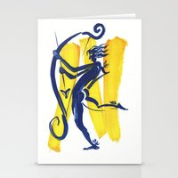 archer Stationery Cards featuring The Archer by coconuttowers