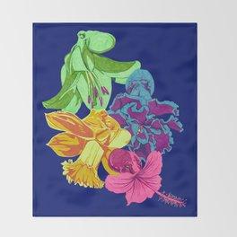 Octopus Flower Garden Throw Blanket