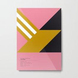 Palermo geometric logo Metal Print