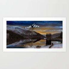 Vulcan over Howden Dam Art Print
