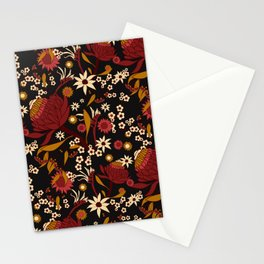 Australian Natives Red Blossom Stationery Cards