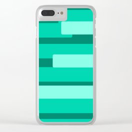Green Abstract Pattern Clear iPhone Case