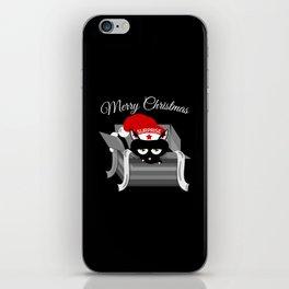 Naughty Cat Merry Christmas iPhone Skin