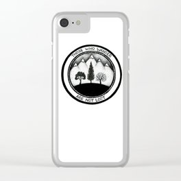 Wanderling Woods Clear iPhone Case