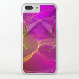 abstract lighteffects -3- Clear iPhone Case
