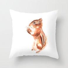 Chipmunk Wizard Throw Pillow