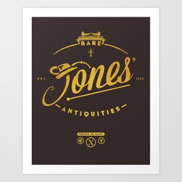 """Jones' Rare Antiquities"" - gold version Art Print"
